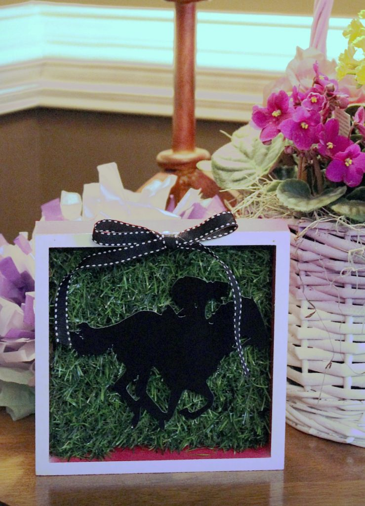 Kentucky Derby Party - decor shadow box