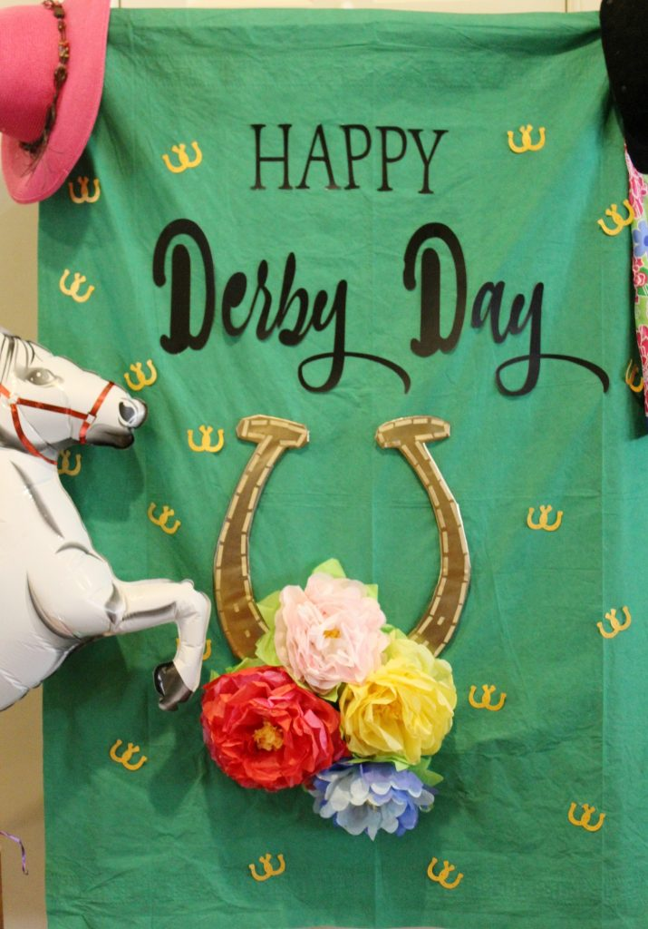 Kentucky Derby Party - prop backdrop