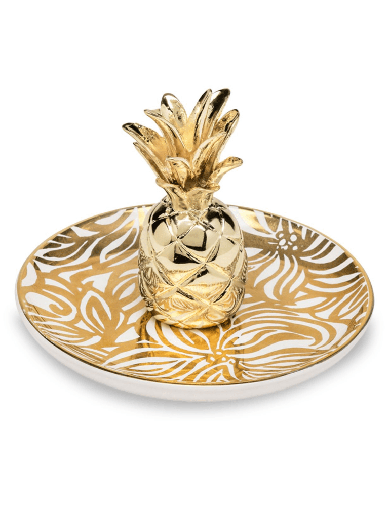 pineapple home decor - Lilly Pulitzer Swirling Floral Pineapple Ring Holder