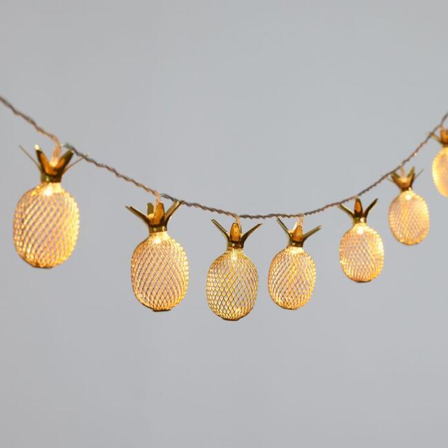 pineapple home decor - Pineapple Mini Lights