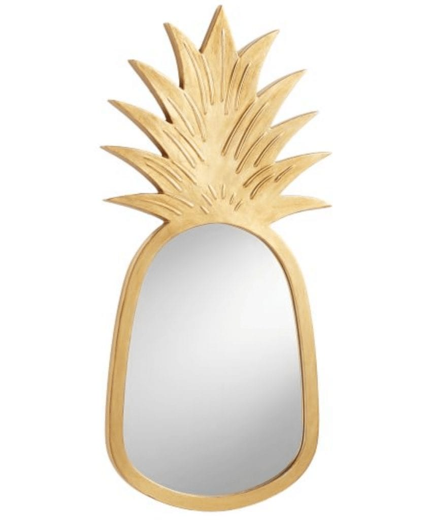 pineapple home decor - Pineapple Mirror