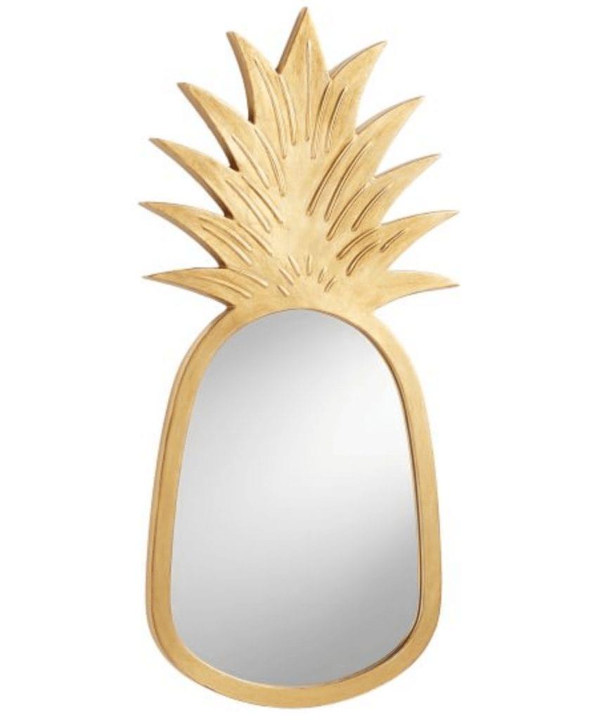 pineapple home decor - Pineapple Mirror