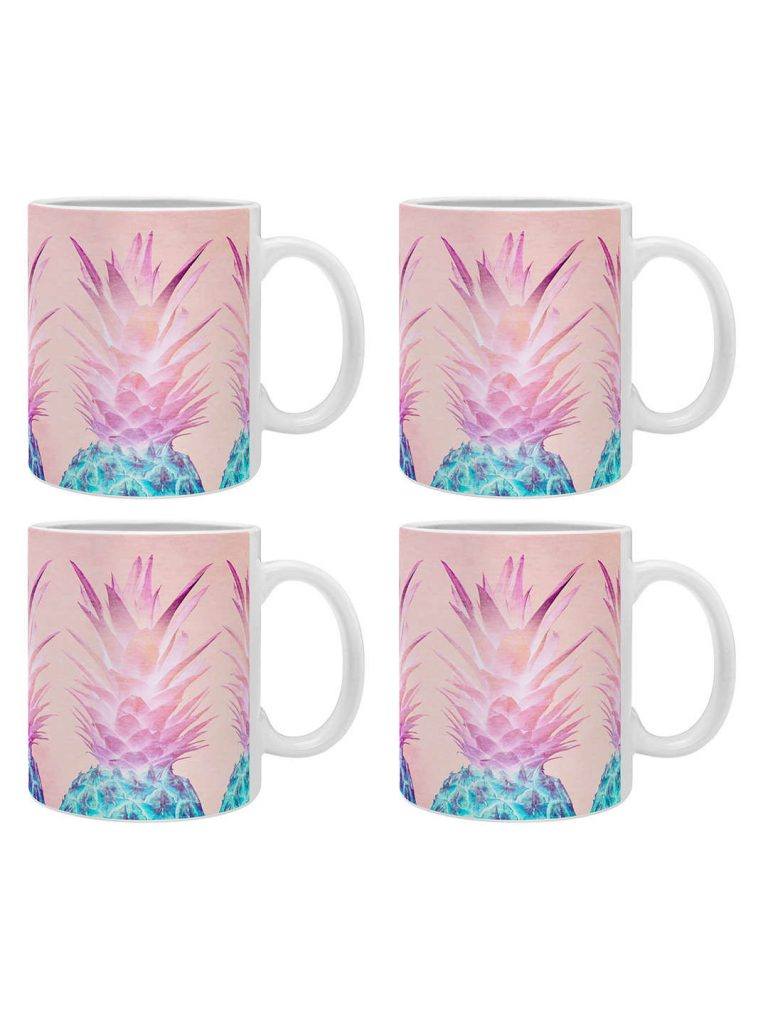 pineapple home decor - Pineapple Mug (Set of 4)