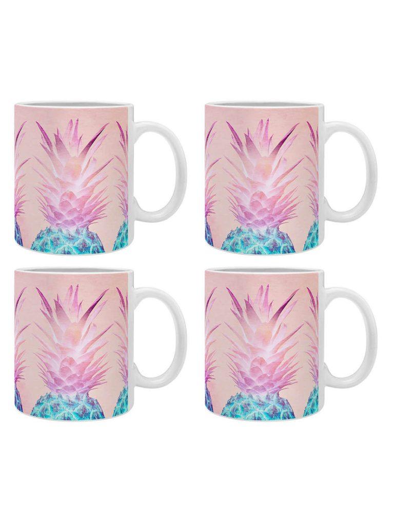 pineapple home decor - Pineapple Mug (Set of 4)