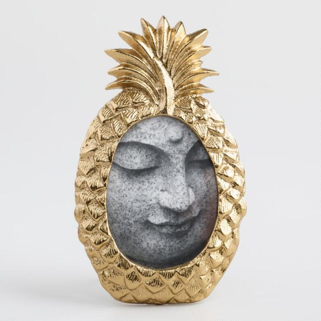 pineapple home decor - Pineapple Picture Frame