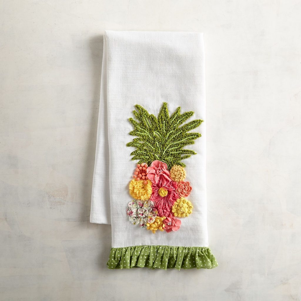 pineapple home decor - Pineapple Tea Towel