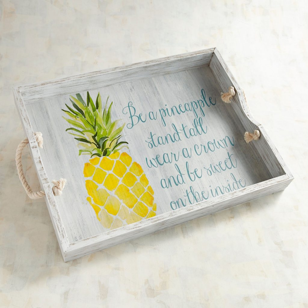 pineapple home decor - Pineapple Tray