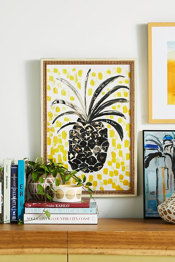 pineapple home decor - Pineapple Wall Art