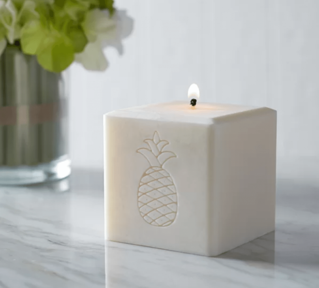 pineapple home decor - Pineapple+Candle