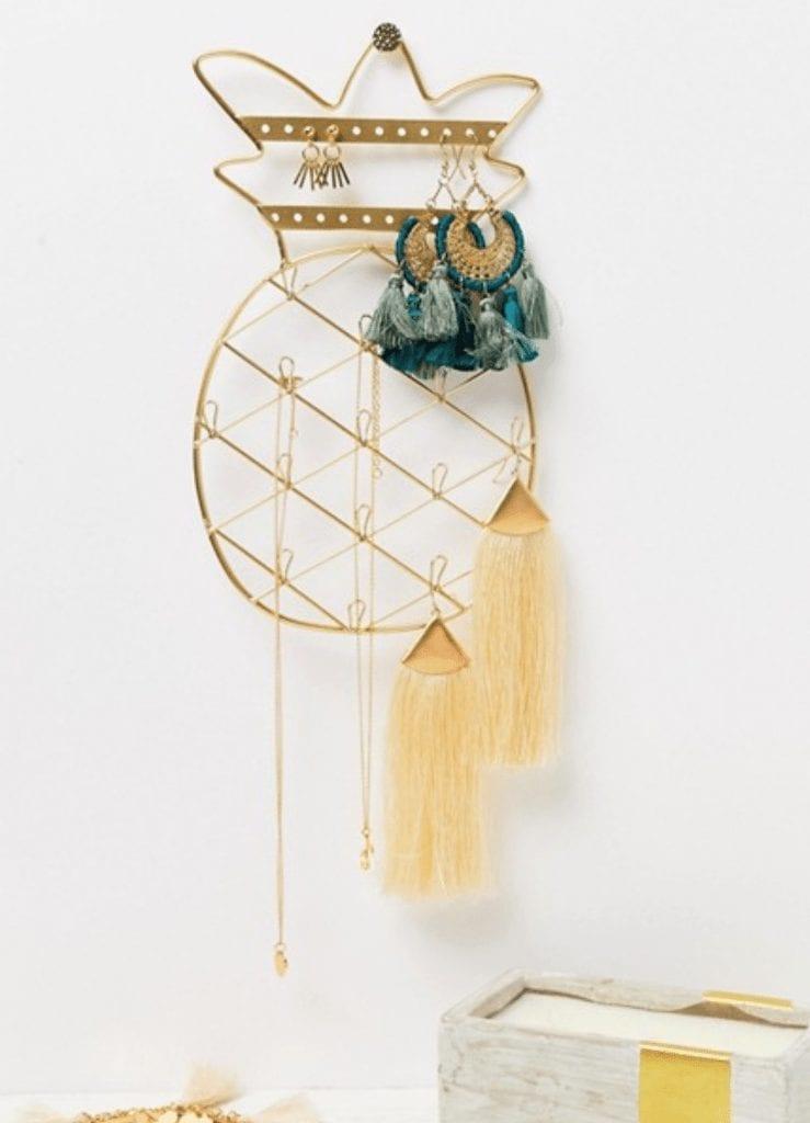 pineapple home decor - Stradivarius Pineapple Jewelry Holder