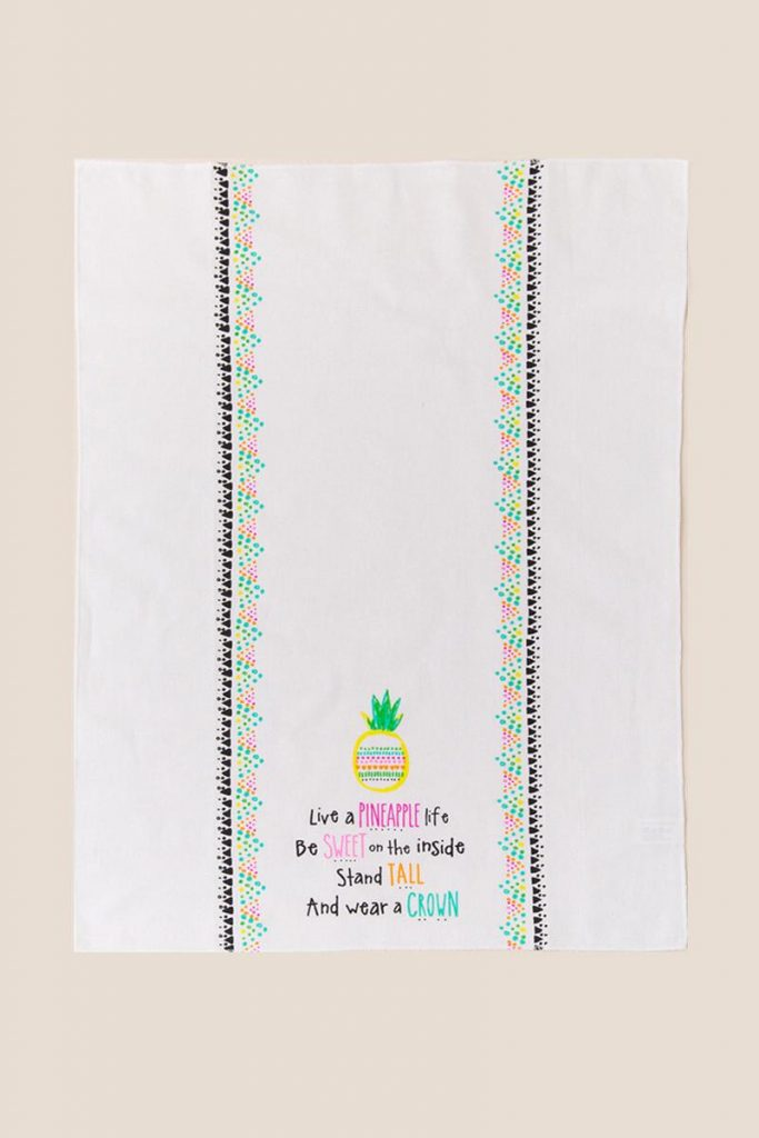 pineapple home decor - Sweet Pineapple Tea Towel
