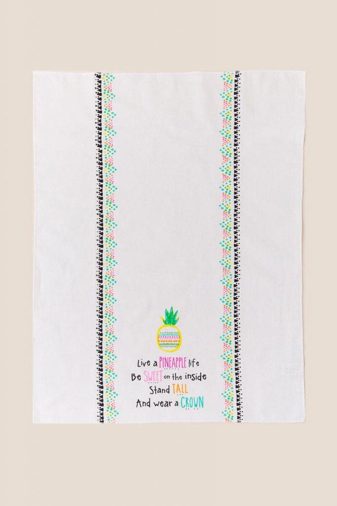 pineapple home decor - Sweet Pineapple Tea Towel