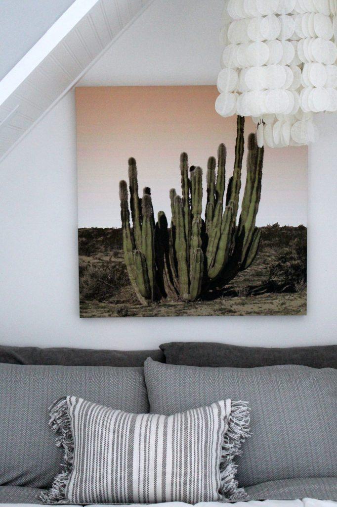 boho bedroom - cactus