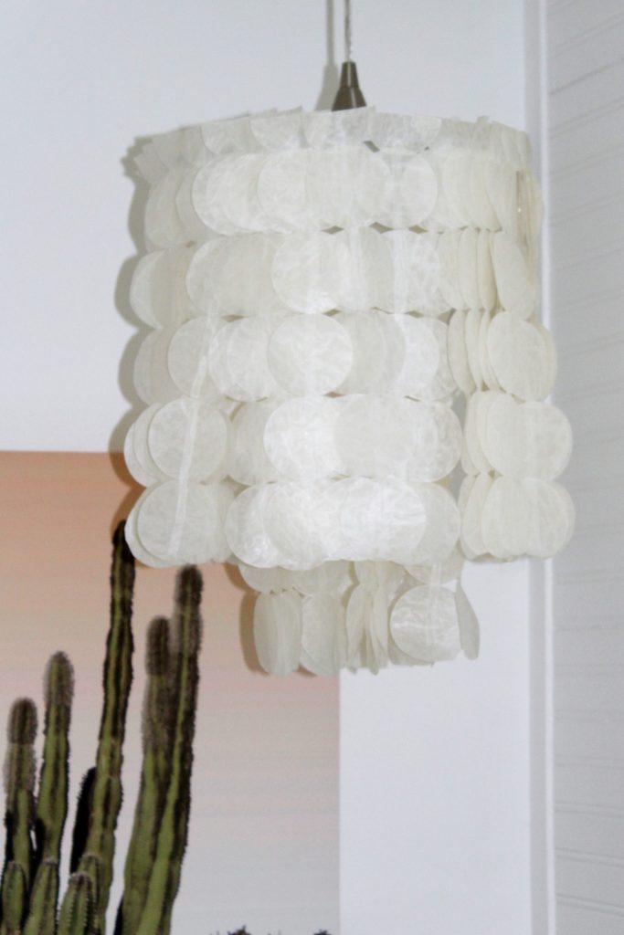 boho bedroom - capiz light