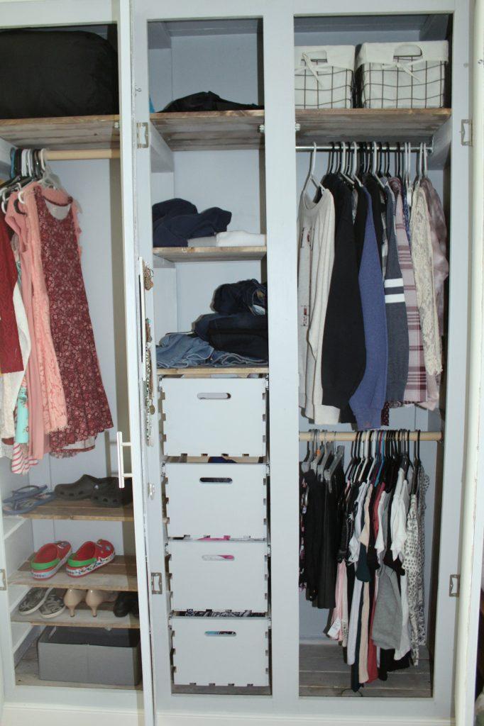 boho bedroom - closet open