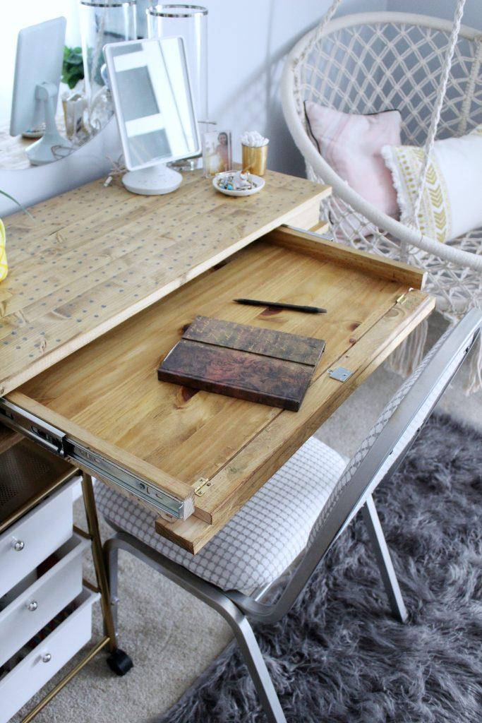 DIY desk writing tray