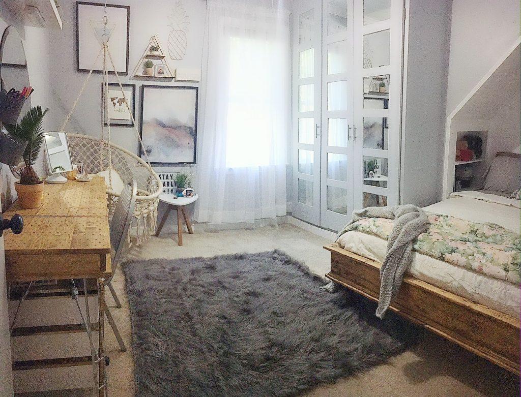 boho bedroom - full room