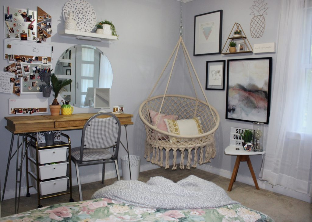 boho bedroom - view from bed