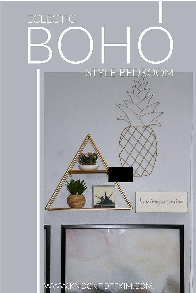 eclectic boho style bedroom