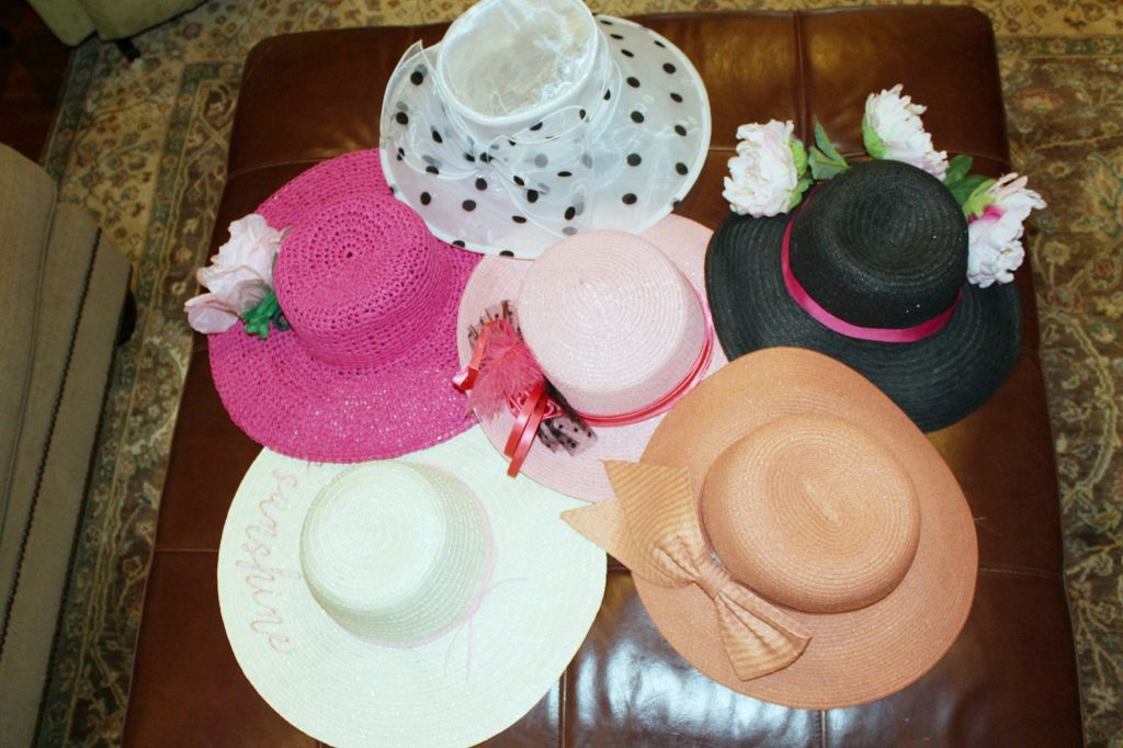 kentucky derby party - all the hats