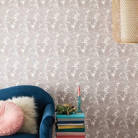 pineapple home decor - temporary wallpaper