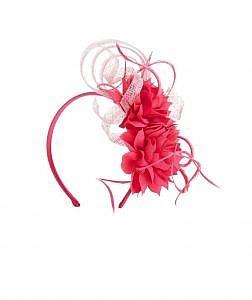 Pink Floral Fascinator