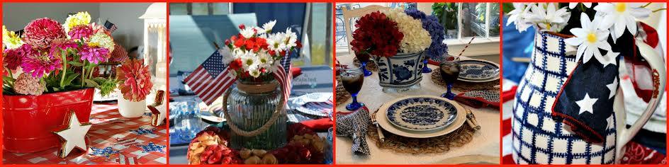 patriotic tablescape-day 3 collage
