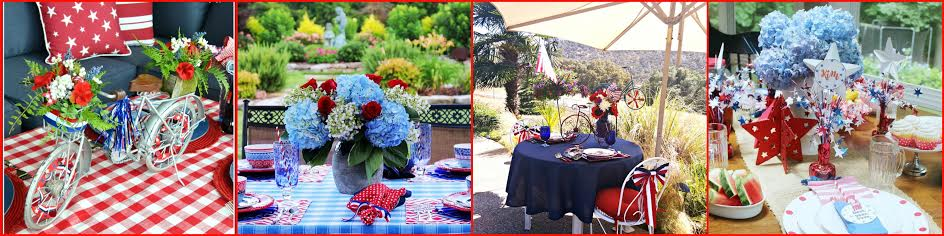 patriotic tablescape-day 2 collage