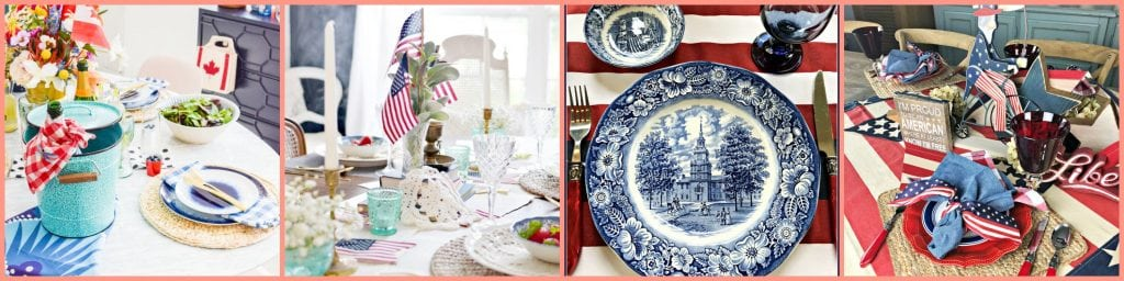 Red white and blue tablescape - Thursday