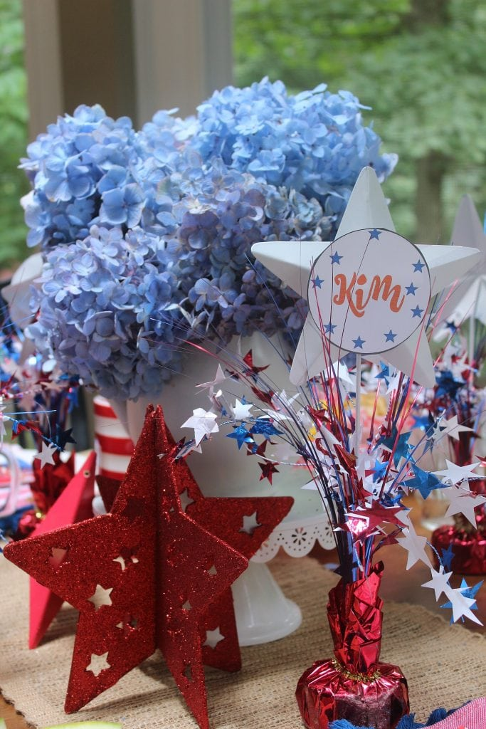 red white and blue - centerpiece