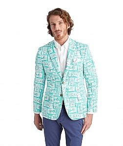 Printed Tickets Derby Blazer