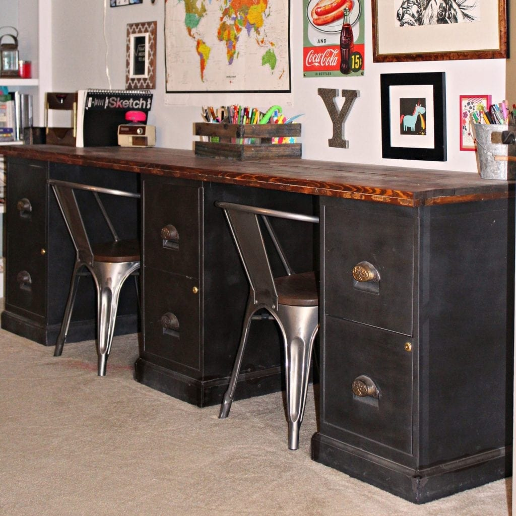 Feature diy file cabinet desk tutorial