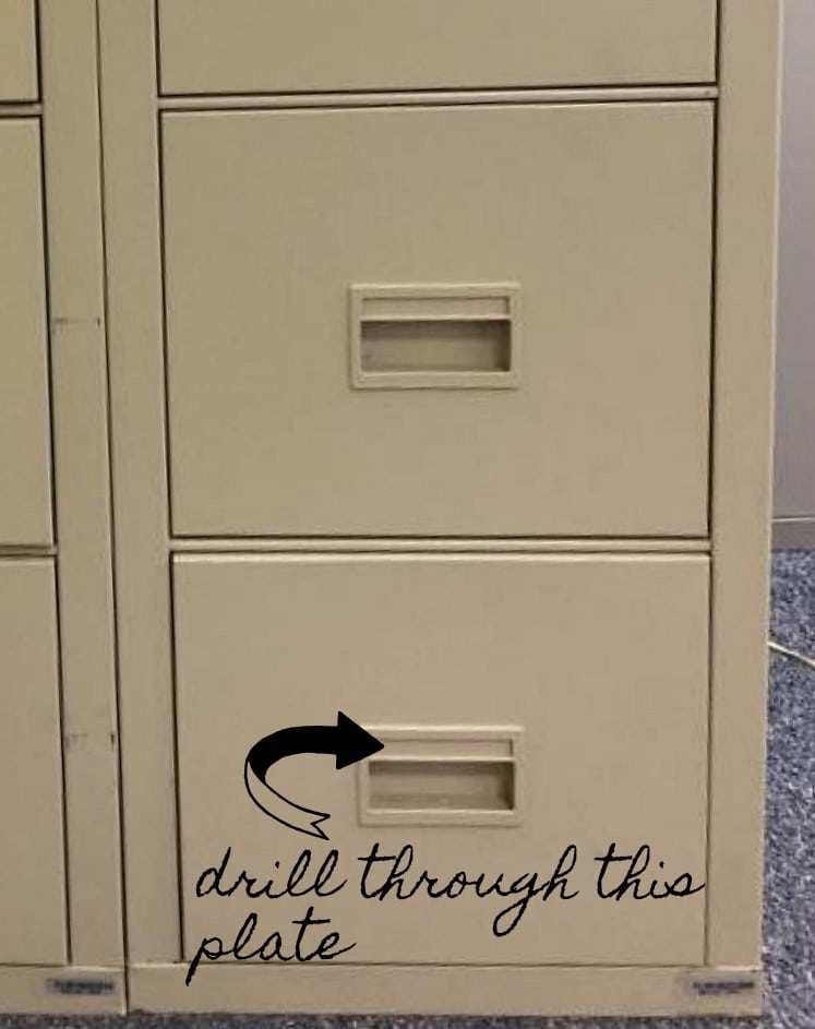 Build your own file cabinet desk