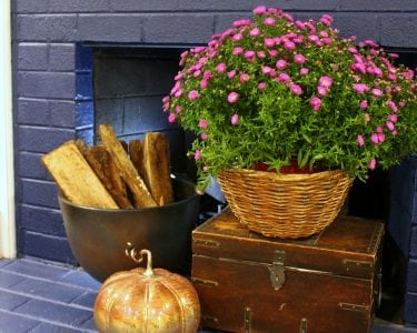 fall fireplace decor ideas - feature