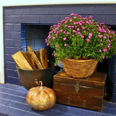 fall fireplace decor ideas - feature