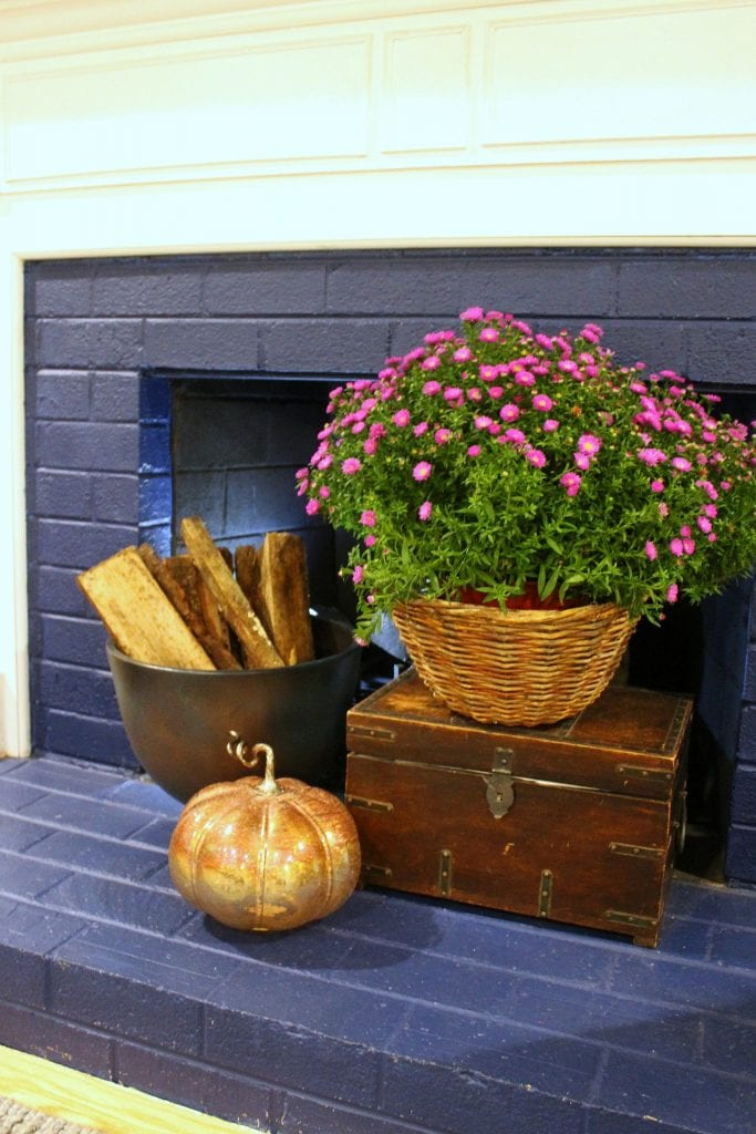 fall fireplace decor ideas