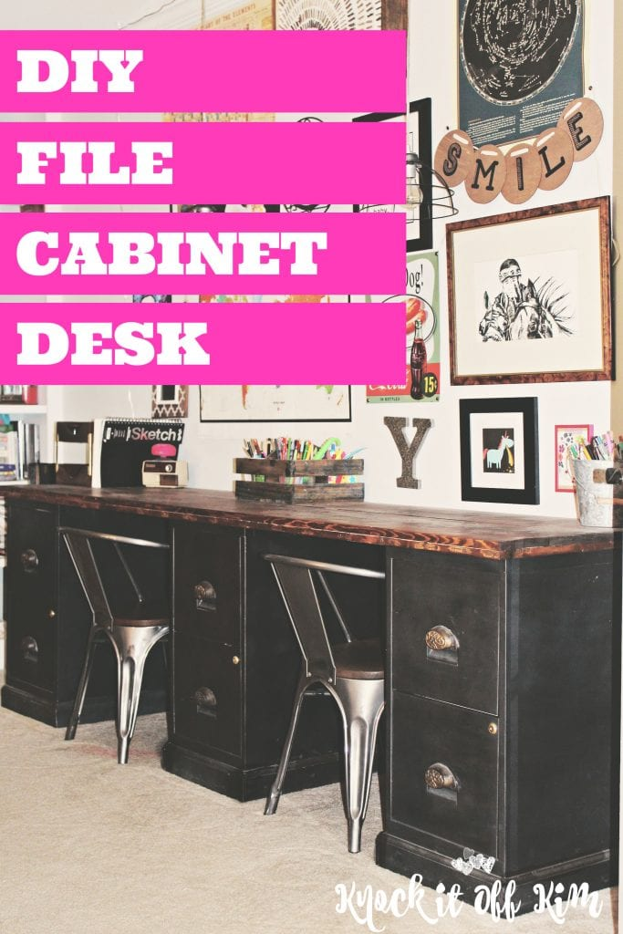 Fantastic File Cabinet Desk Diy Home Office Diy Desk Repurpose Furniture Download Free Architecture Designs Osuribritishbridgeorg
