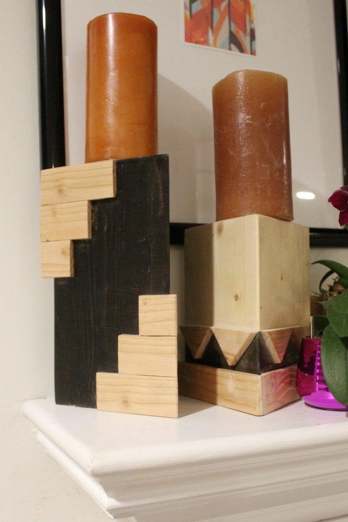 geometric candle holders