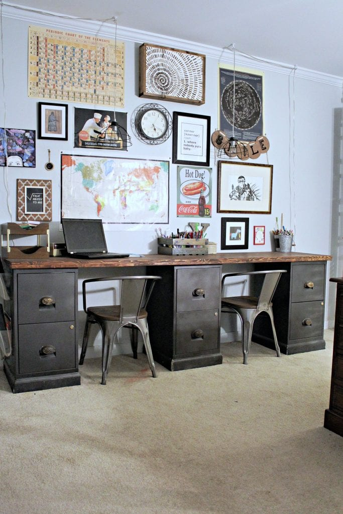 diy - filing cabinet desk