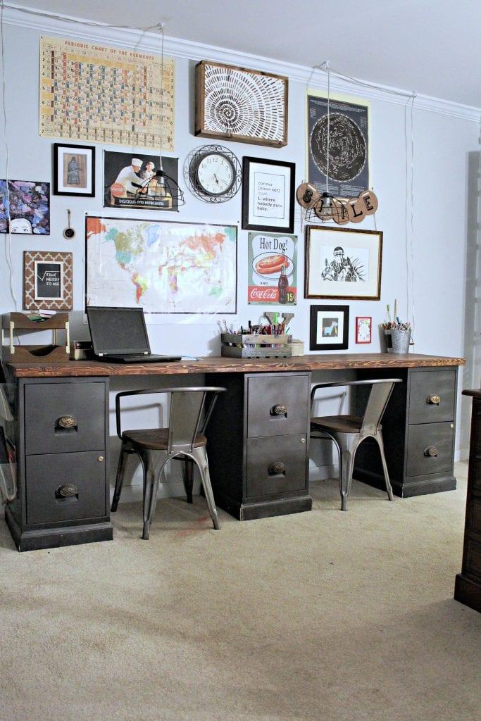 diy - filing cabinet desk