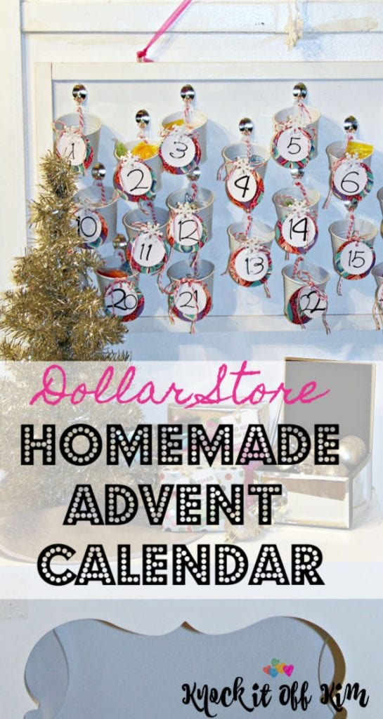 Dollar Store Homemade Advent Calendar