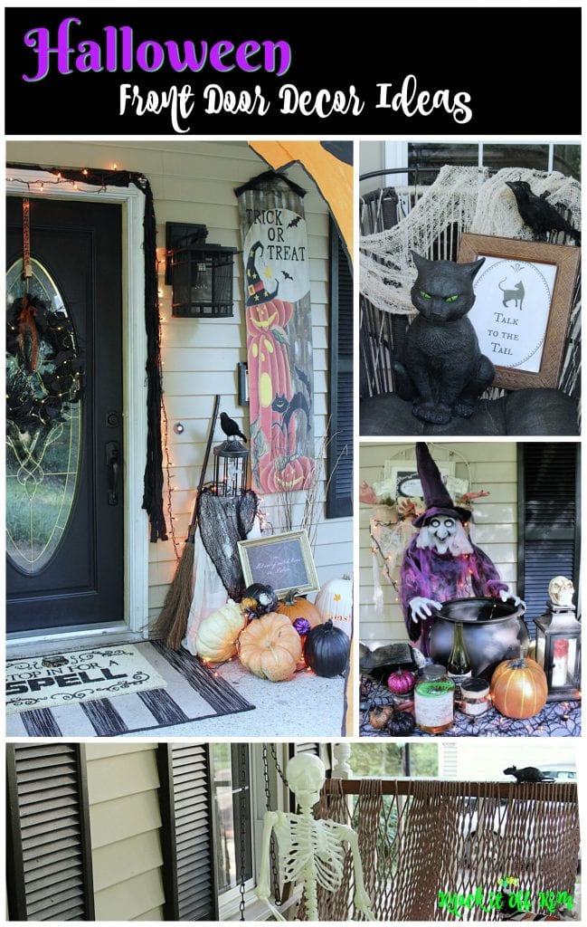 halloween front door decor idea