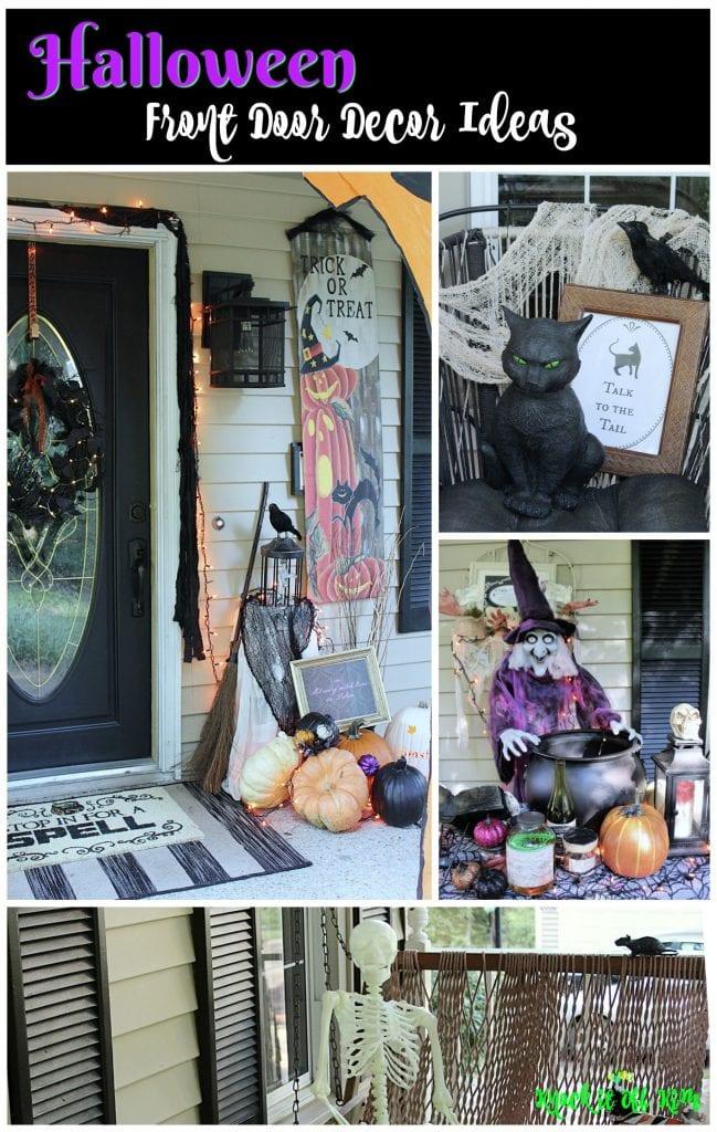 halloween front door decor idea