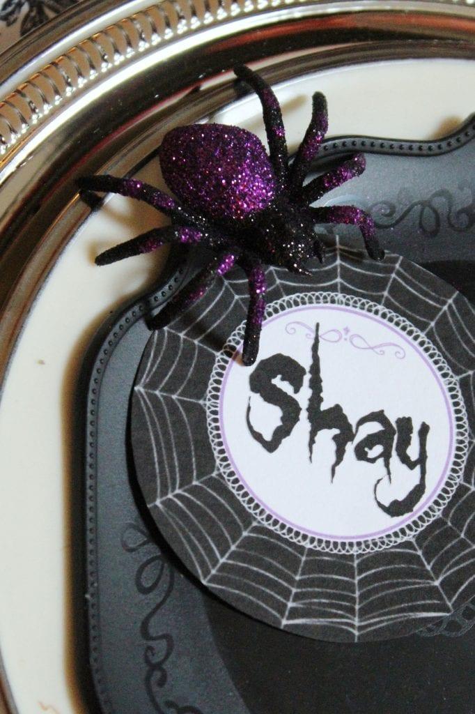 halloween seating card download