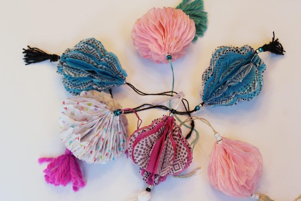 DIY Christmas Ornaments - Honeycomb ornaments
