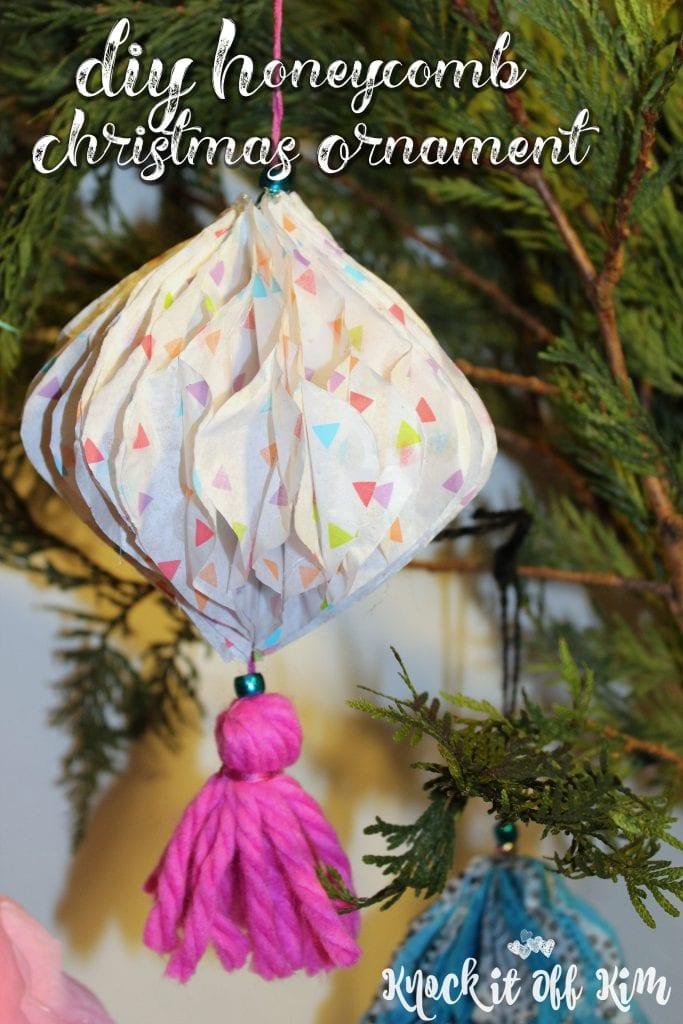 DIY Honeycomb Christmas ornament
