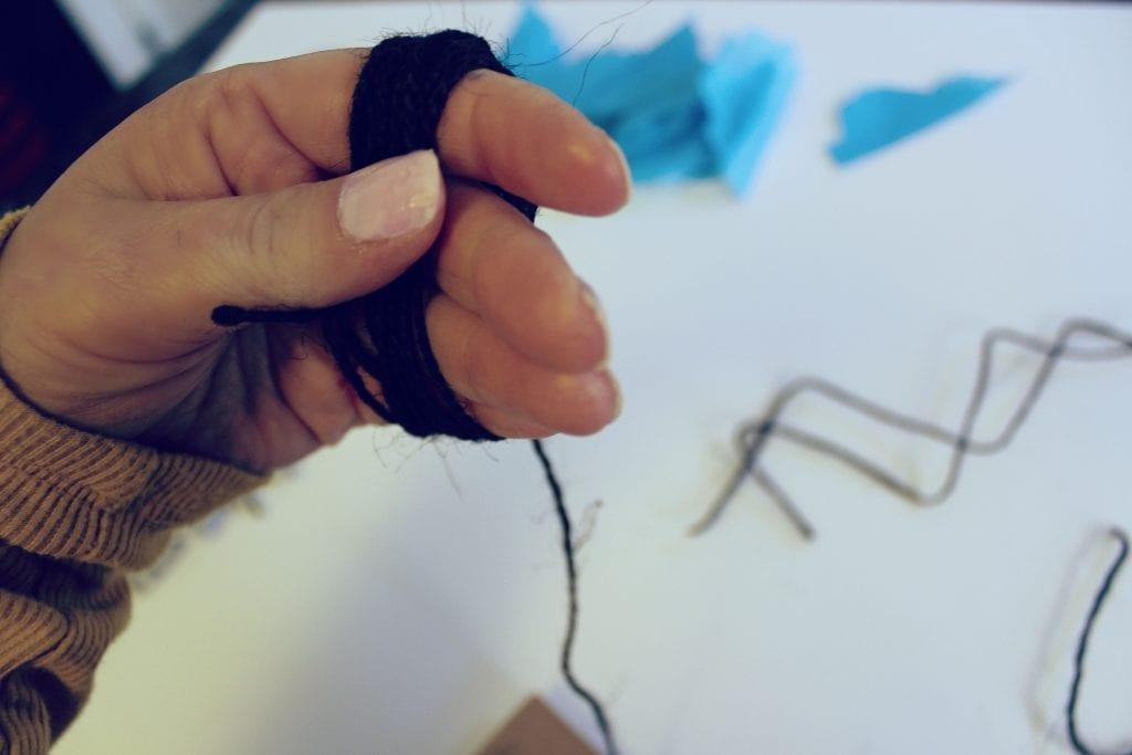 DIY Tassel - wrap around hand