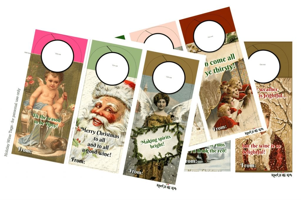 Christmas Wine Tags - Download them all