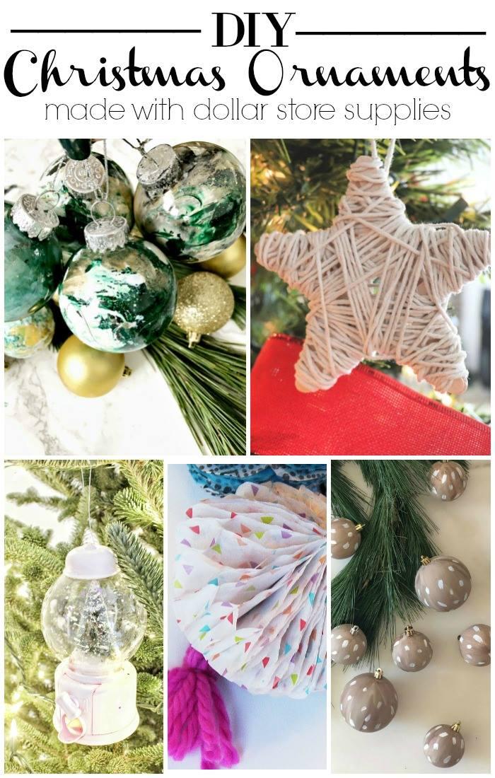 My Dollar Store DIY DIY Christmas Ornaments
