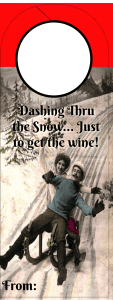 Christmas Wine tag _Dashing